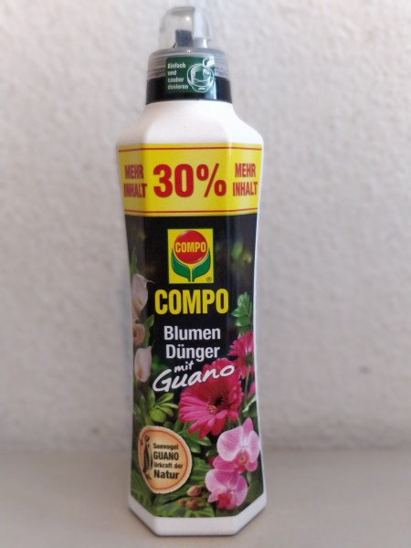 Compo Blumendünger mit Guano 1,3 l