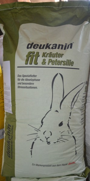 deukanin fit Kräuter & Petersilie Kaninchenfutter 25 Kg