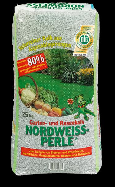 Nordweissperle Garten- und Rasenkalk 25 Kg